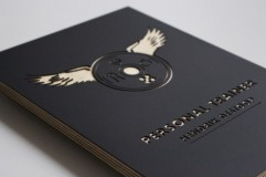 Houten Naambord 24x18cm - Zwarte Berk