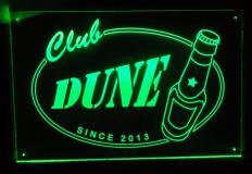 Naambord met LED verlichting   30x20cm
