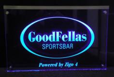 Naambord met LED verlichting   20x15cm