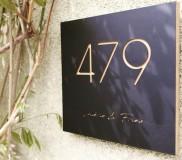 Houten Naambord 13x13cm - Zwarte Berk