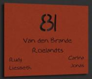 Naambordje Cortenstaal (roest) 23x18cm