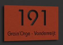 Naambordje Cortenstaal (roest) 20x12cm