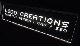 Naambord met LED verlichting   30x15cm