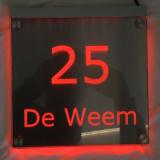 Naambord met LED verlichting   20x20cm