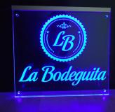 Naambord met LED verlichting   30x25cm