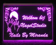 Naambord met LED verlichting   25x15cm