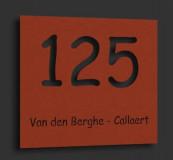 Naambordje Cortenstaal (roest) 24x21cm