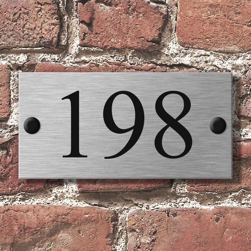 RVS Naambordje voordeur 16x8cm | Lino